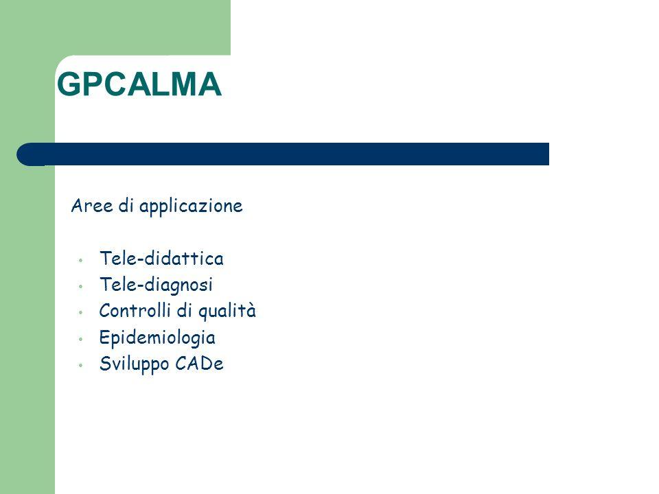 Aree di applicazione Tele-didattica Tele-diagnosi Controlli di qualità Epidemiologia Sviluppo CADe GPCALMA