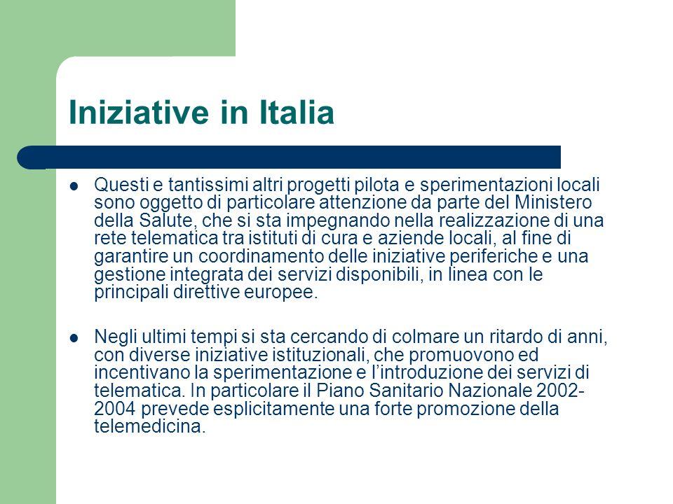 Iniziative in Italia Questi e tantissimi altri progetti pilota e sperimentazioni locali sono oggetto di particolare attenzione da parte del Ministero