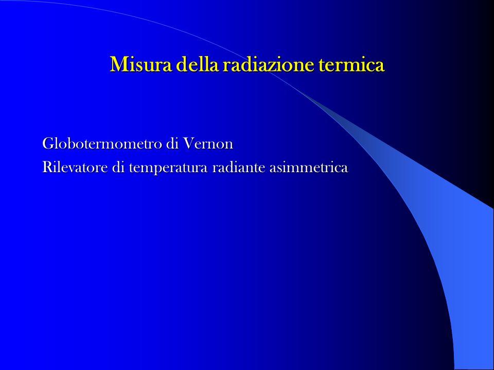 Misura della radiazione termica Globotermometro di Vernon Rilevatore di temperatura radiante asimmetrica