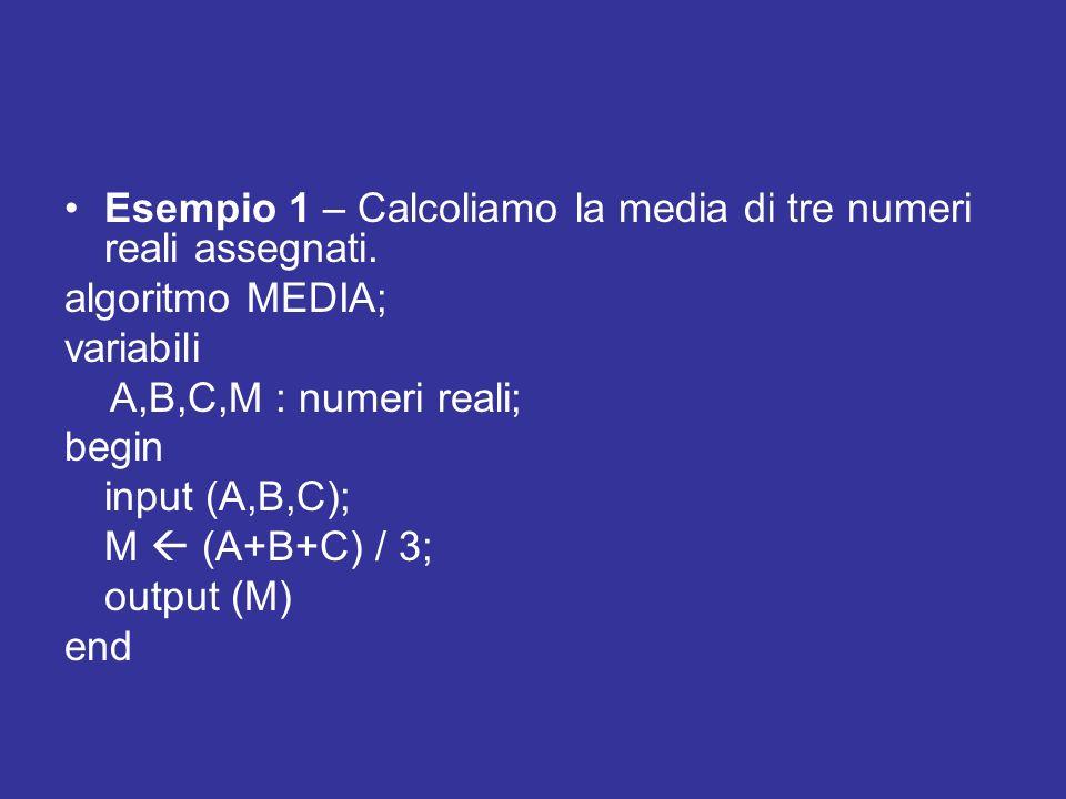 Esempio 2 – Dato un numero intero, calcolare il precedente e il successivo.
