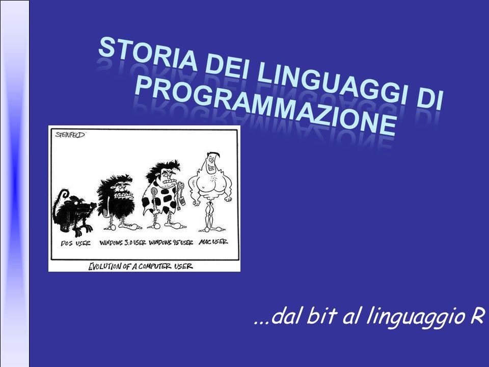 In principio era il bit… …Per intenderci 0 e 1, il linguaggio macchina.