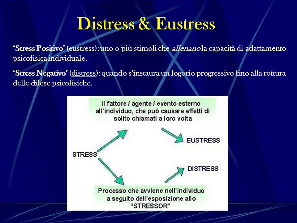 Stress Positivo (eustress): uno o più stimoli che allenano la capacità di adattamento psicofisica individuale.