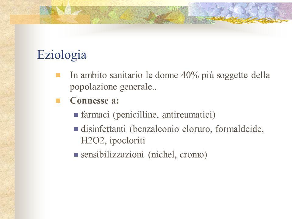 Eziologia In ambito sanitario le donne 40% più soggette della popolazione generale..