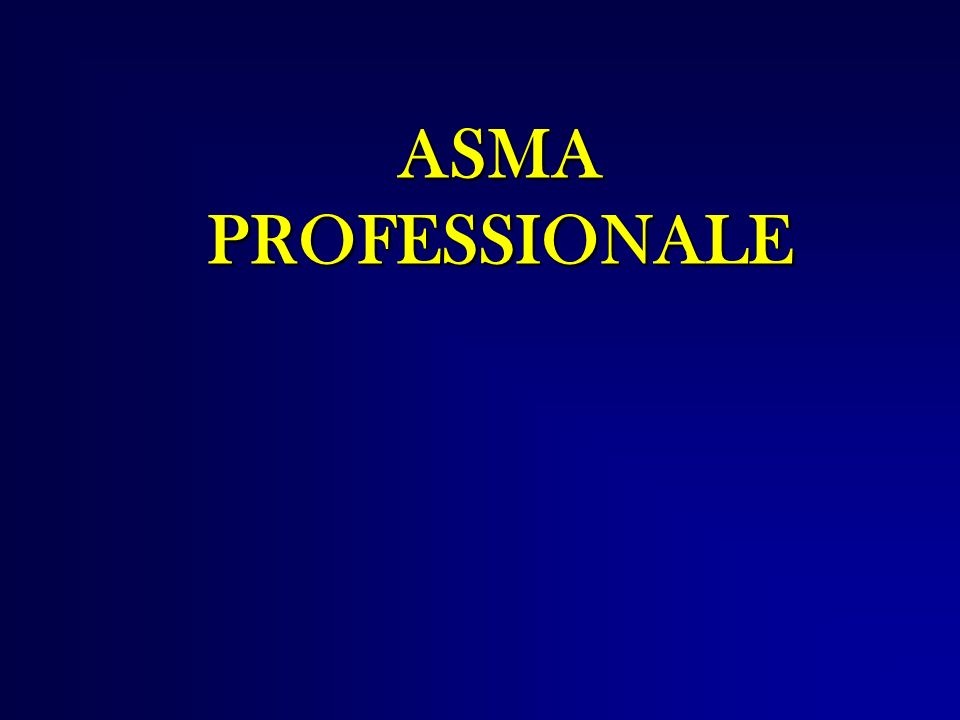 ASMA PROFESSIONALE