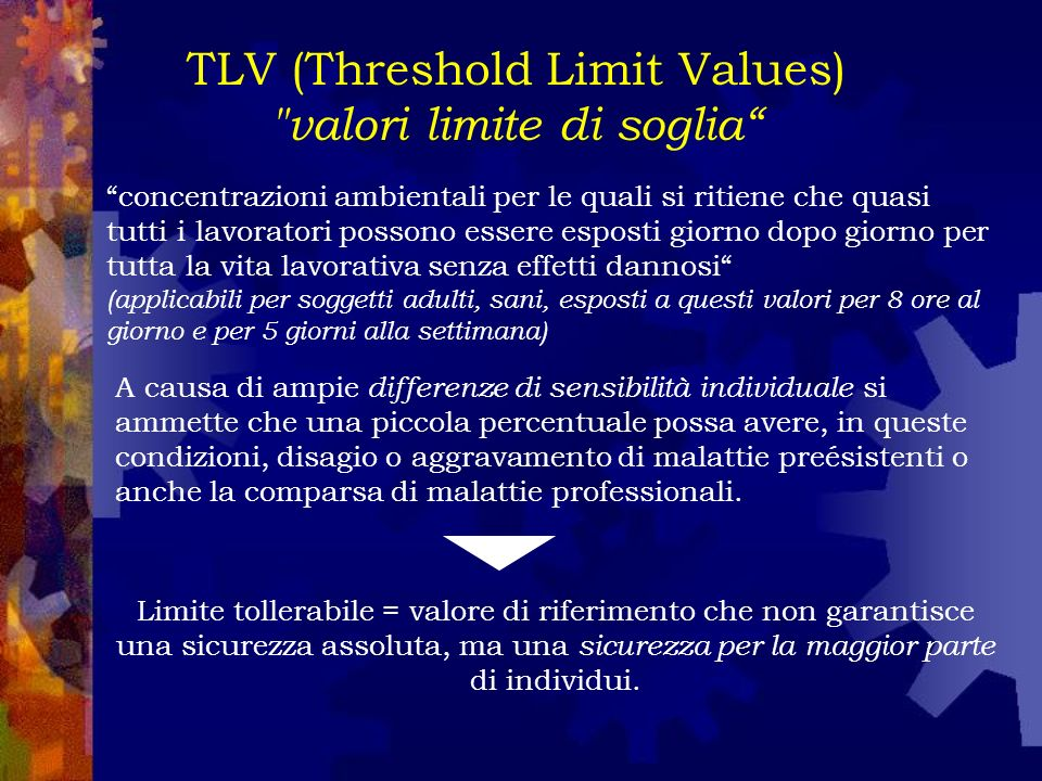 TLV (Threshold Limit Values) 3 Categorie 1.