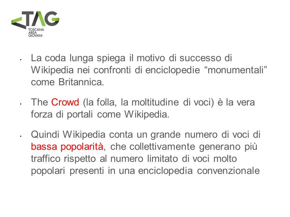 La coda lunga spiega il motivo di successo di Wikipedia nei confronti di enciclopedie monumentali come Britannica. The Crowd (la folla, la moltitudine