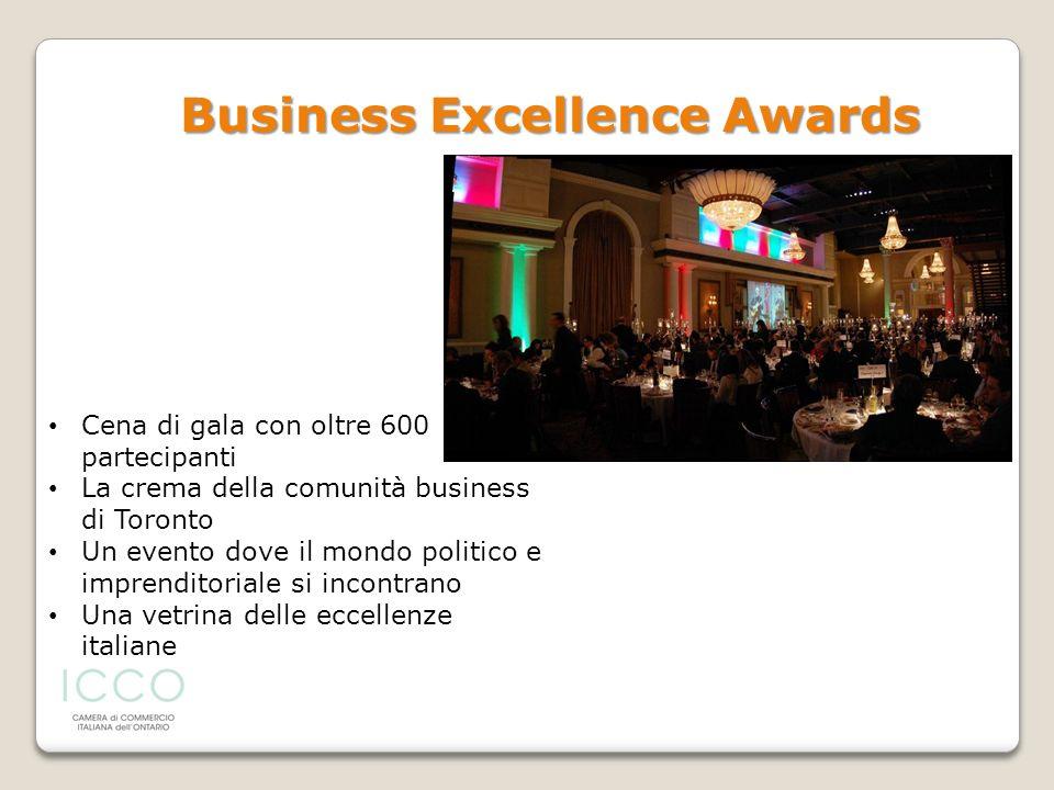 Cena di gala con oltre 600 partecipanti La crema della comunità business di Toronto Un evento dove il mondo politico e imprenditoriale si incontrano U