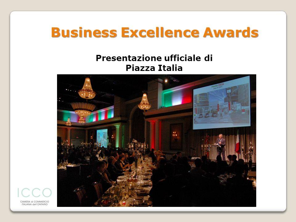Presentazione ufficiale di Piazza Italia Business Excellence Awards