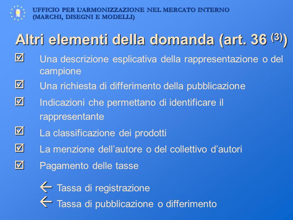 UFFICIO PER LARMONIZZAZIONE NEL MERCATO INTERNO (MARCHI, DISEGNI E MODELLI) Altri elementi della domanda (art. 36 (3) ) Una descrizione esplicativa de