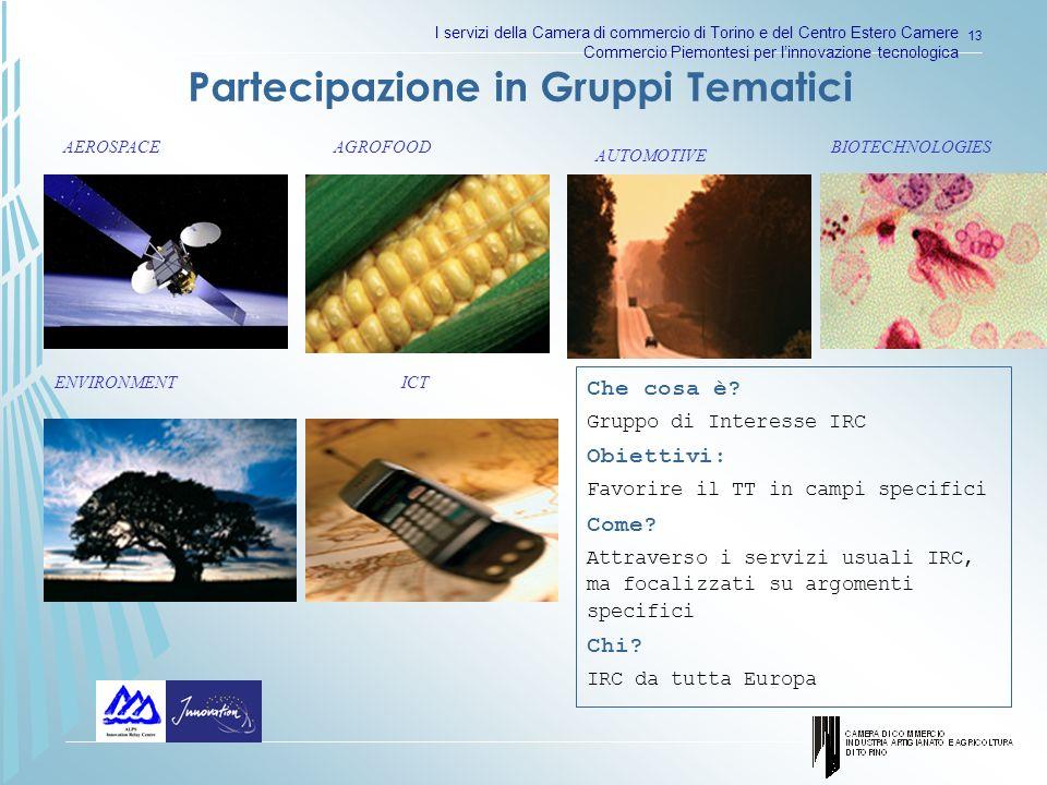 I servizi della Camera di commercio di Torino e del Centro Estero Camere Commercio Piemontesi per linnovazione tecnologica 13 Che cosa è.
