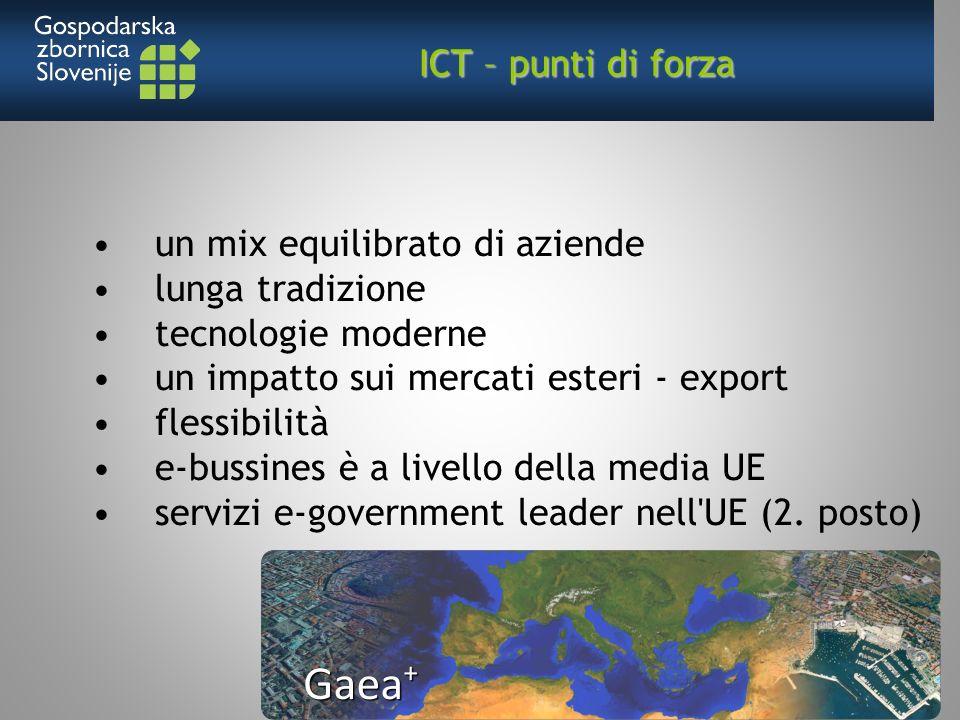 un mix equilibrato di aziende lunga tradizione tecnologie moderne un impatto sui mercati esteri - export flessibilità e-bussines è a livello della media UE servizi e-government leader nell UE (2.