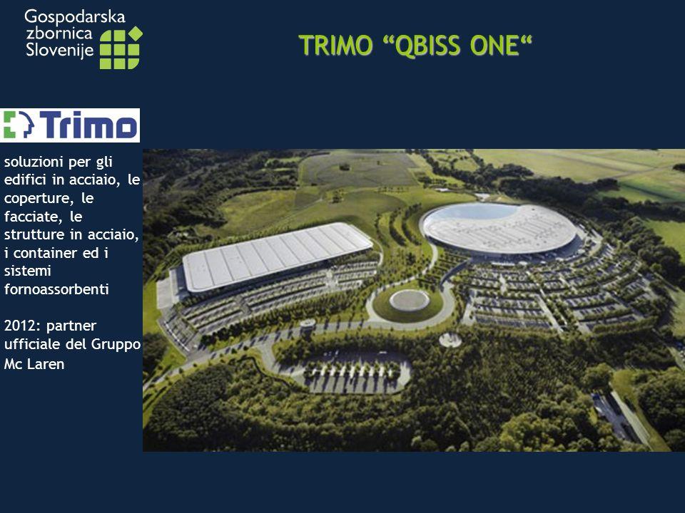 TRIMO QBISS ONE soluzioni per gli edifici in acciaio, le coperture, le facciate, le strutture in acciaio, i container ed i sistemi fornoassorbenti 2012: partner ufficiale del Gruppo Mc Laren