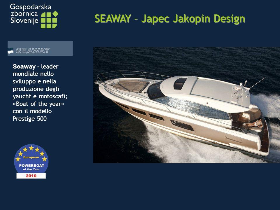 SEAWAY – Japec Jakopin Design Seaway - leader mondiale nello sviluppo e nella produzione degli yaucht e motoscafi; »Boat of the year« con il modello Prestige 500