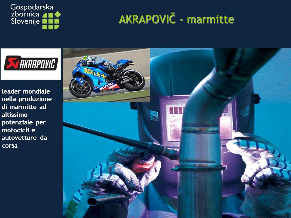AKRAPOVIČ - marmitte leader mondiale nella produzione di marmitte ad altissimo potenziale per motocicli e autovetture da corsa