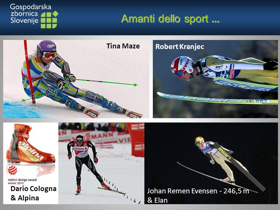 Amanti dello sport … Amanti dello sport … Dario Cologna & Alpina Tina Maze Johan Remen Evensen - 246,5 m & Elan Robert Kranjec