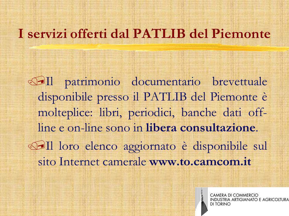 I servizi offerti dal PATLIB del Piemonte /Il patrimonio documentario brevettuale disponibile presso il PATLIB del Piemonte è molteplice: libri, periodici, banche dati off- line e on-line sono in libera consultazione.
