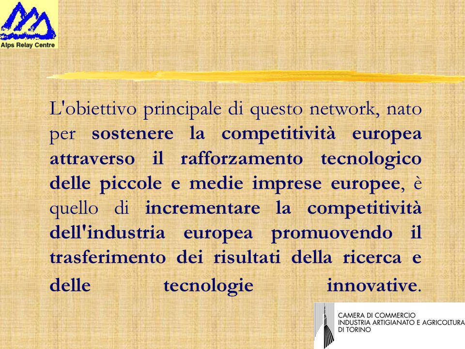 L obiettivo principale di questo network, nato per sostenere la competitività europea attraverso il rafforzamento tecnologico delle piccole e medie imprese europee, è quello di incrementare la competitività dell industria europea promuovendo il trasferimento dei risultati della ricerca e delle tecnologie innovative.