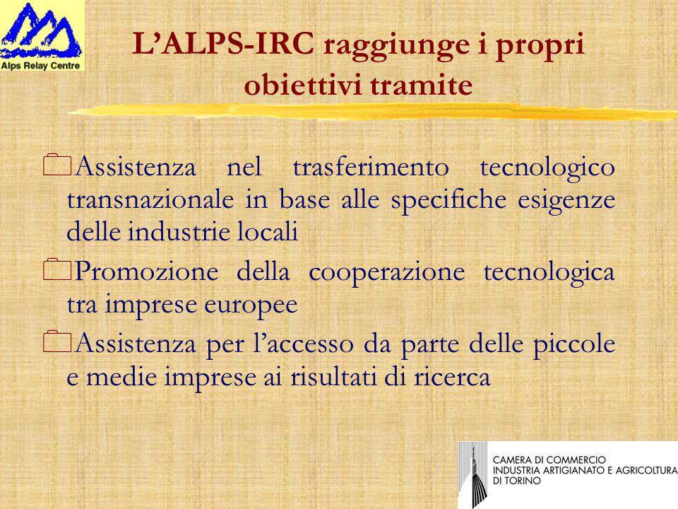 LALPS-IRC raggiunge i propri obiettivi tramite 0Assistenza nel trasferimento tecnologico transnazionale in base alle specifiche esigenze delle industrie locali 0Promozione della cooperazione tecnologica tra imprese europee 0Assistenza per laccesso da parte delle piccole e medie imprese ai risultati di ricerca