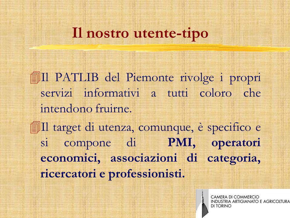 Il nostro utente-tipo 4Il PATLIB del Piemonte rivolge i propri servizi informativi a tutti coloro che intendono fruirne.