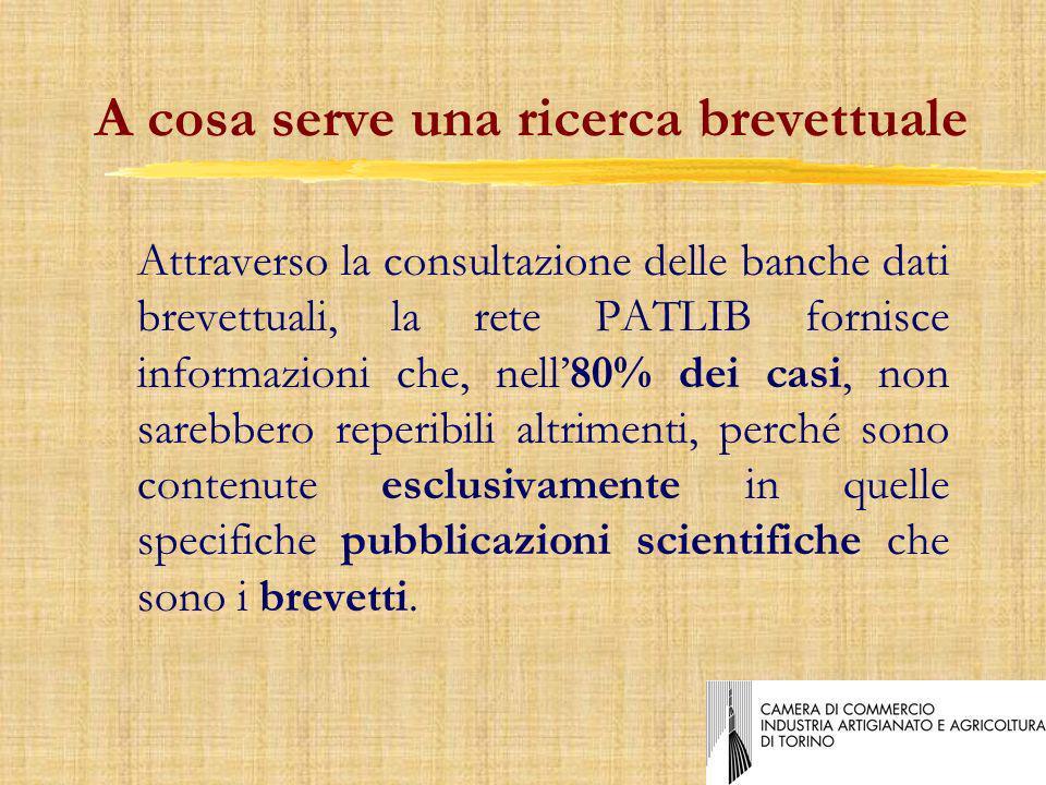 Il Reparto Brevetti e Marchi della CCIAA di Torino 8E lo sportello provinciale che riceve le domande per i brevetti ed i marchi italiani.