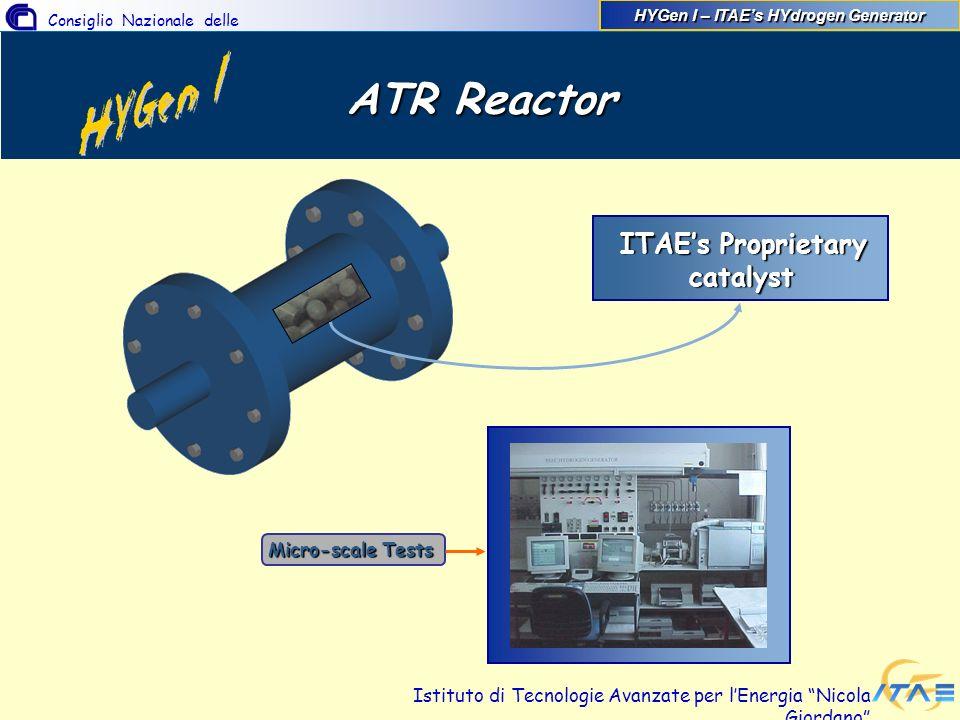 Consiglio Nazionale delle Ricerche Istituto di Tecnologie Avanzate per lEnergia Nicola Giordano ATR Reactor ITAEs Proprietary ITAEs Proprietary cataly