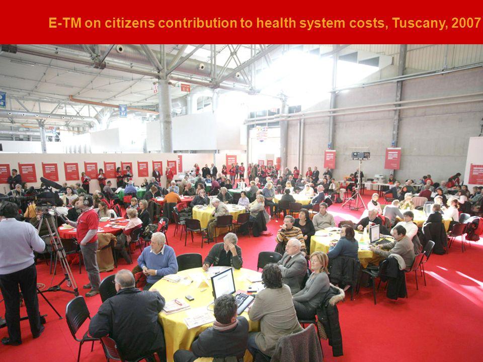 Avventura Urbana per il progetto Parterre Che cosè E-TM on citizens contribution to health system costs, Tuscany, 2007