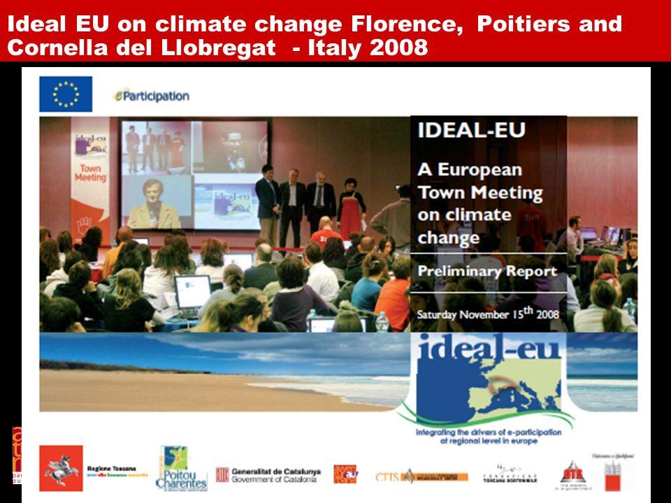 Avventura Urbana per il progetto Parterre Ideal EU on climate change Florence, Poitiers and Cornella del Llobregat - Italy 2008
