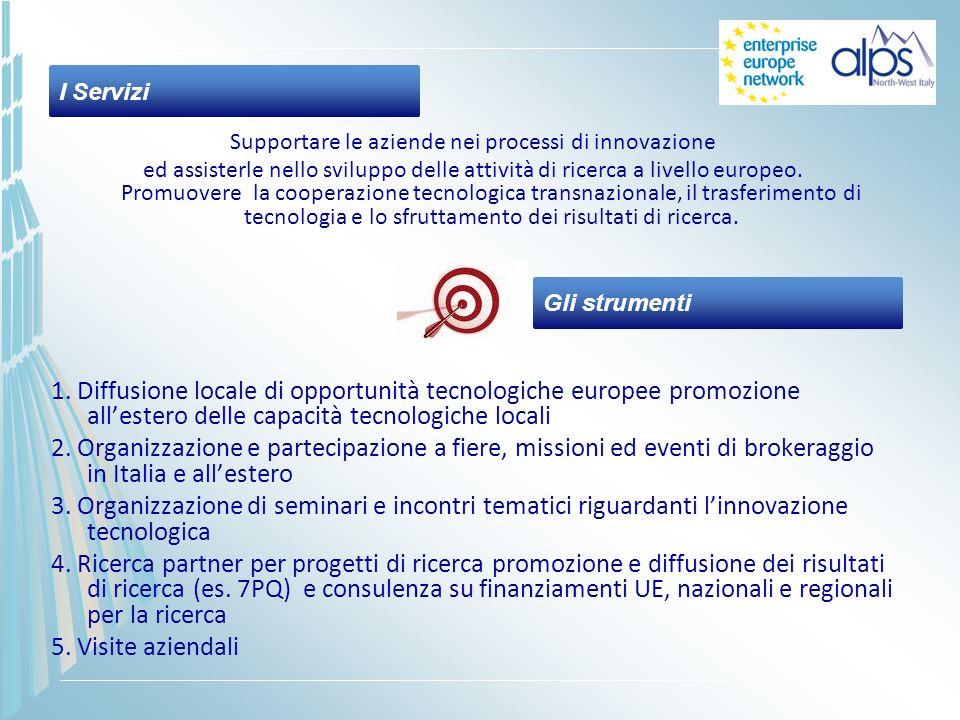 Supportare le aziende nei processi di innovazione ed assisterle nello sviluppo delle attività di ricerca a livello europeo. Promuovere la cooperazione