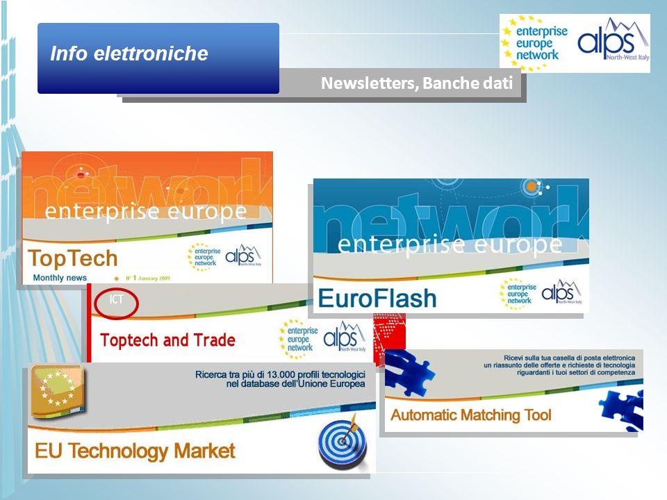 Newsletters, Banche dati Info elettroniche