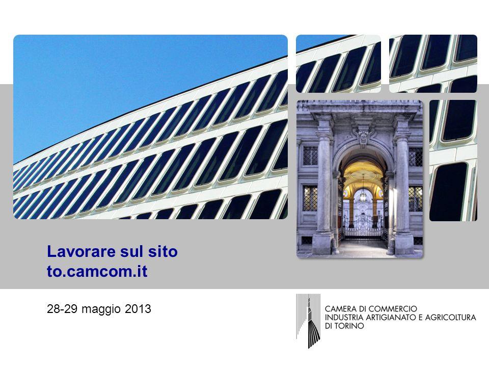 Lavorare sul sito to.camcom.it 28-29 maggio 2013