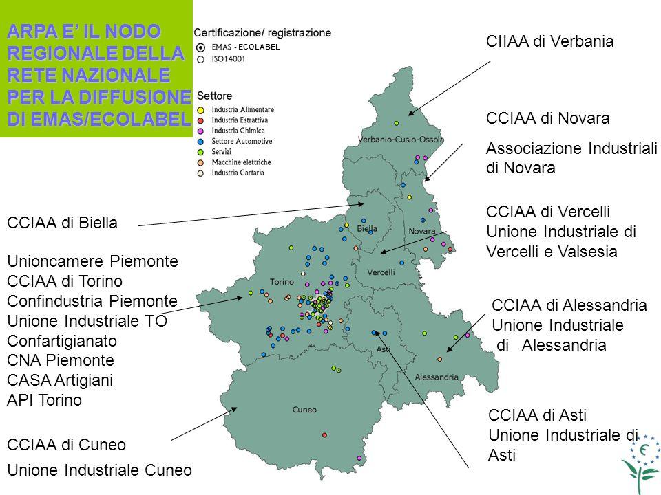 - ECOLABEL CCIAA di Novara Associazione Industriali di Novara Unioncamere Piemonte CCIAA di Torino Confindustria Piemonte Unione Industriale TO Confar