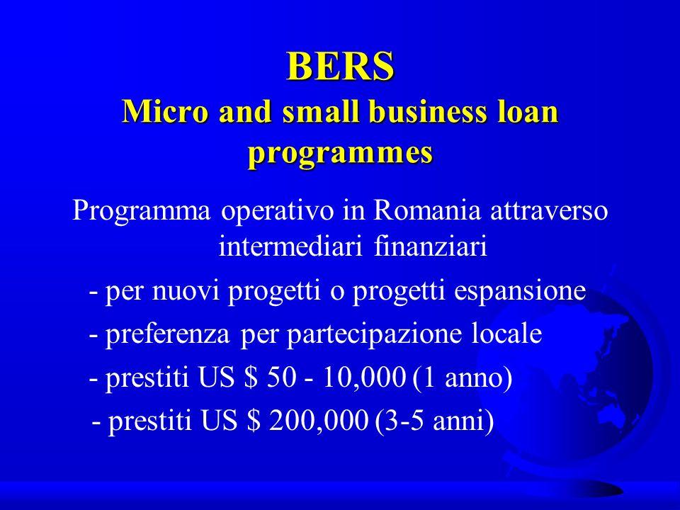 BERS EU/EBRD SME Finance Facility Programma operativo in Rep.