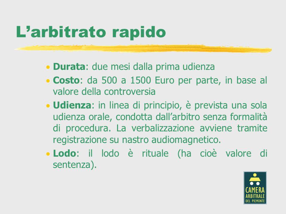 La conciliazione Durata: 45 giorni dalla presentazione della domanda Costo: il costo varia a seconda del valore della lite ed è sostenuto da entrambe le parti.