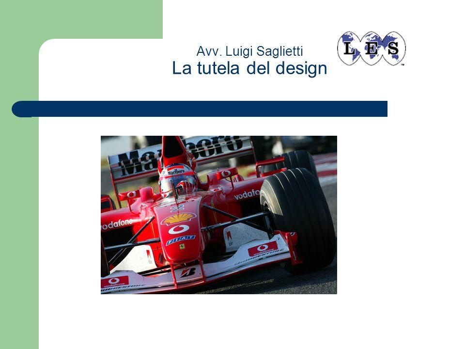 Avv. Luigi Saglietti La tutela del design