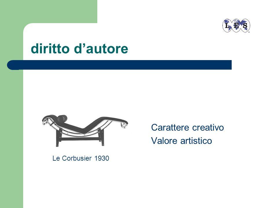 diritto dautore Carattere creativo Valore artistico Le Corbusier 1930
