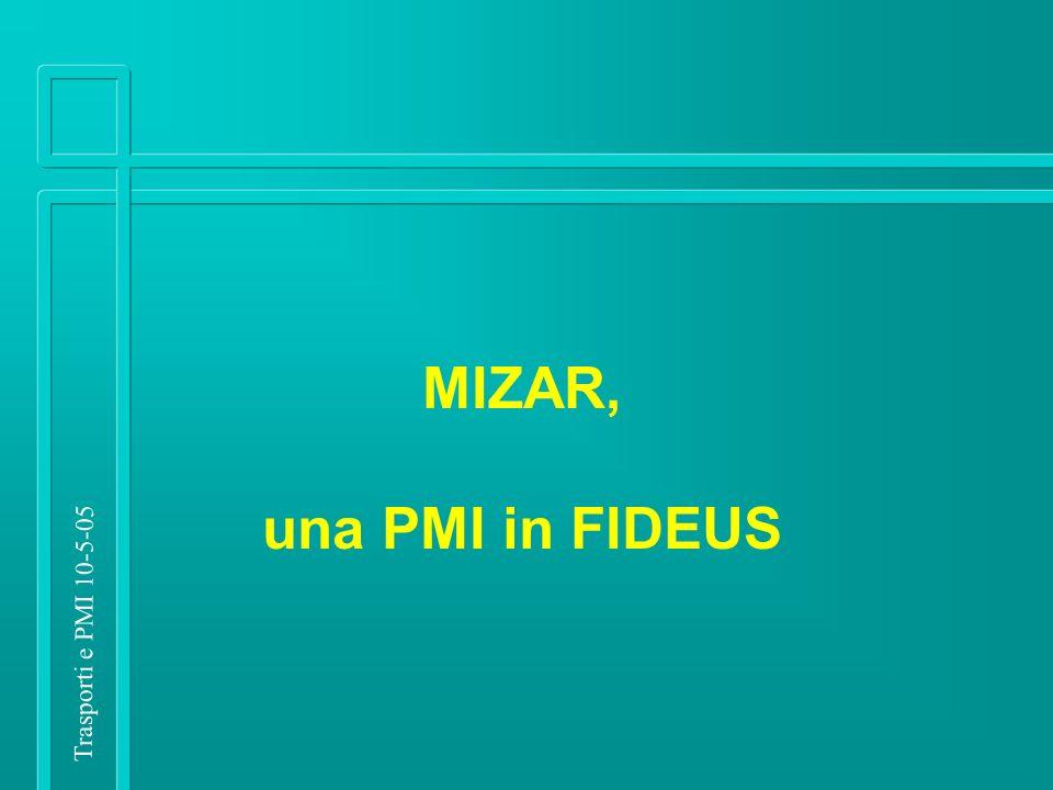 Trasporti e PMI 10-5-05 MIZAR, una PMI in FIDEUS