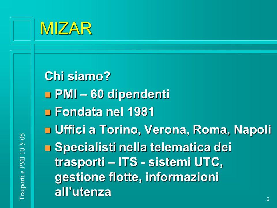 Trasporti e PMI 10-5-05 2 MIZAR Chi siamo.