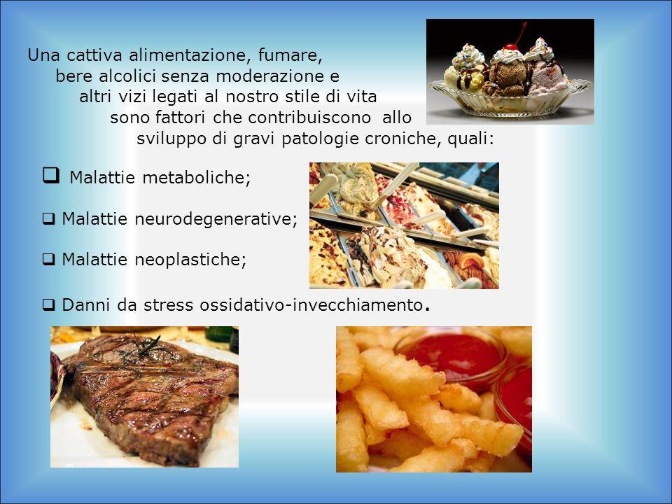 Una cattiva alimentazione, fumare, bere alcolici senza moderazione e altri vizi legati al nostro stile di vita Malattie metaboliche; Malattie neurodeg