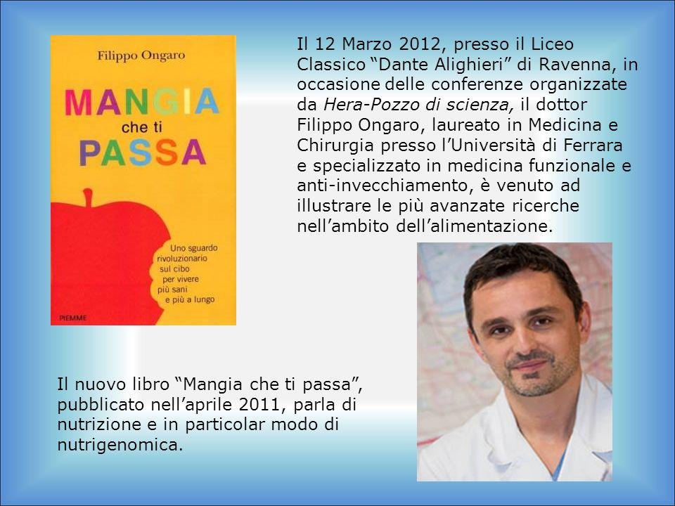 Il 12 Marzo 2012, presso il Liceo Classico Dante Alighieri di Ravenna, in occasione delle conferenze organizzate da Hera-Pozzo di scienza, il dottor F