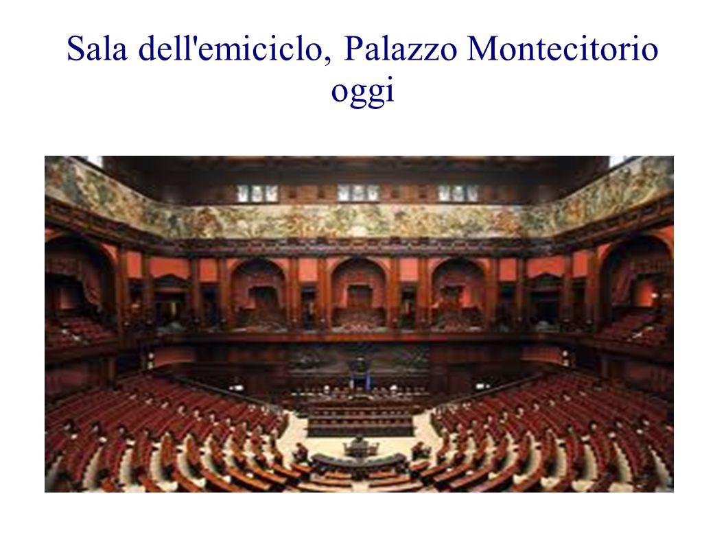 Sala dell'emiciclo, Palazzo Montecitorio oggi