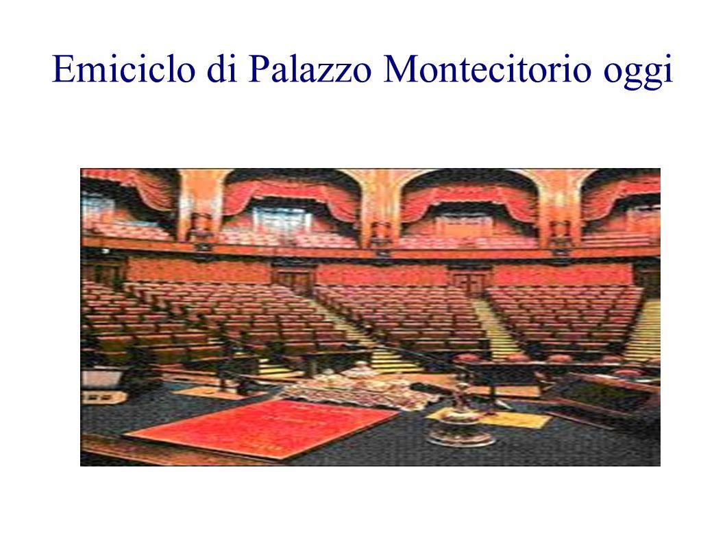 Emiciclo di Palazzo Montecitorio oggi