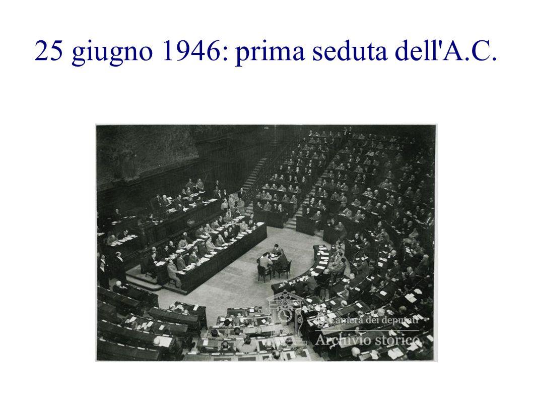 25 giugno 1946: prima seduta dell'A.C.