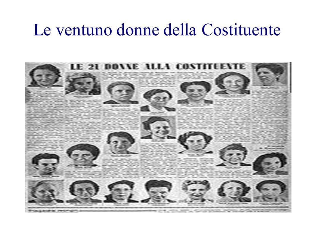 Le ventuno donne della Costituente