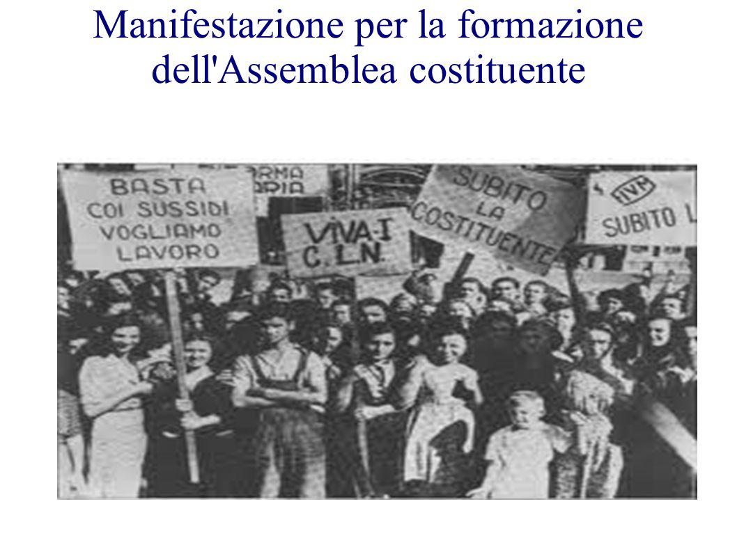 Manifestazione per la formazione dell'Assemblea costituente