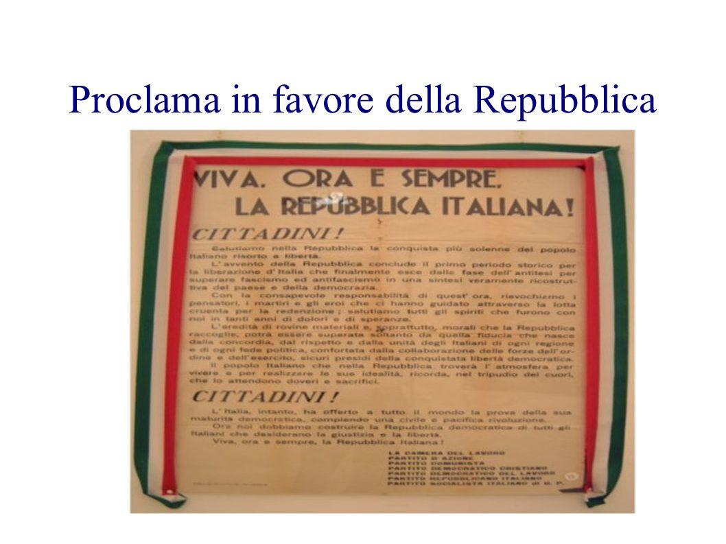 Proclama in favore della Repubblica