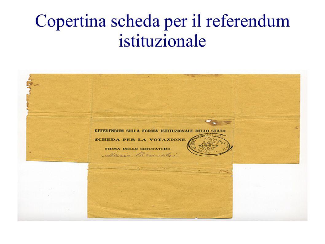 Copertina scheda per il referendum istituzionale