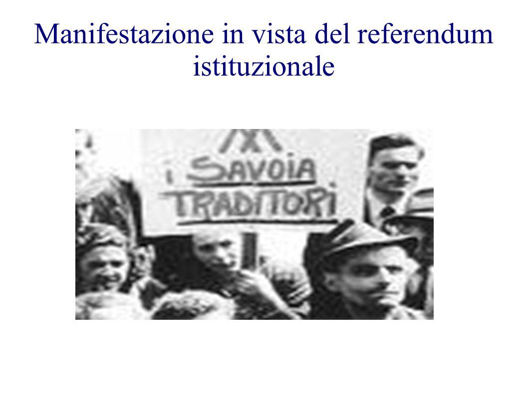 Manifestazione in vista del referendum istituzionale
