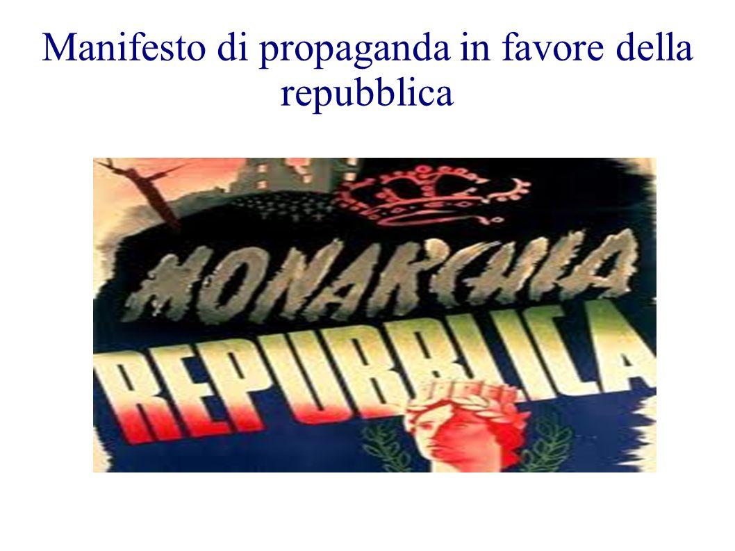 Manifesto di propaganda in favore della repubblica