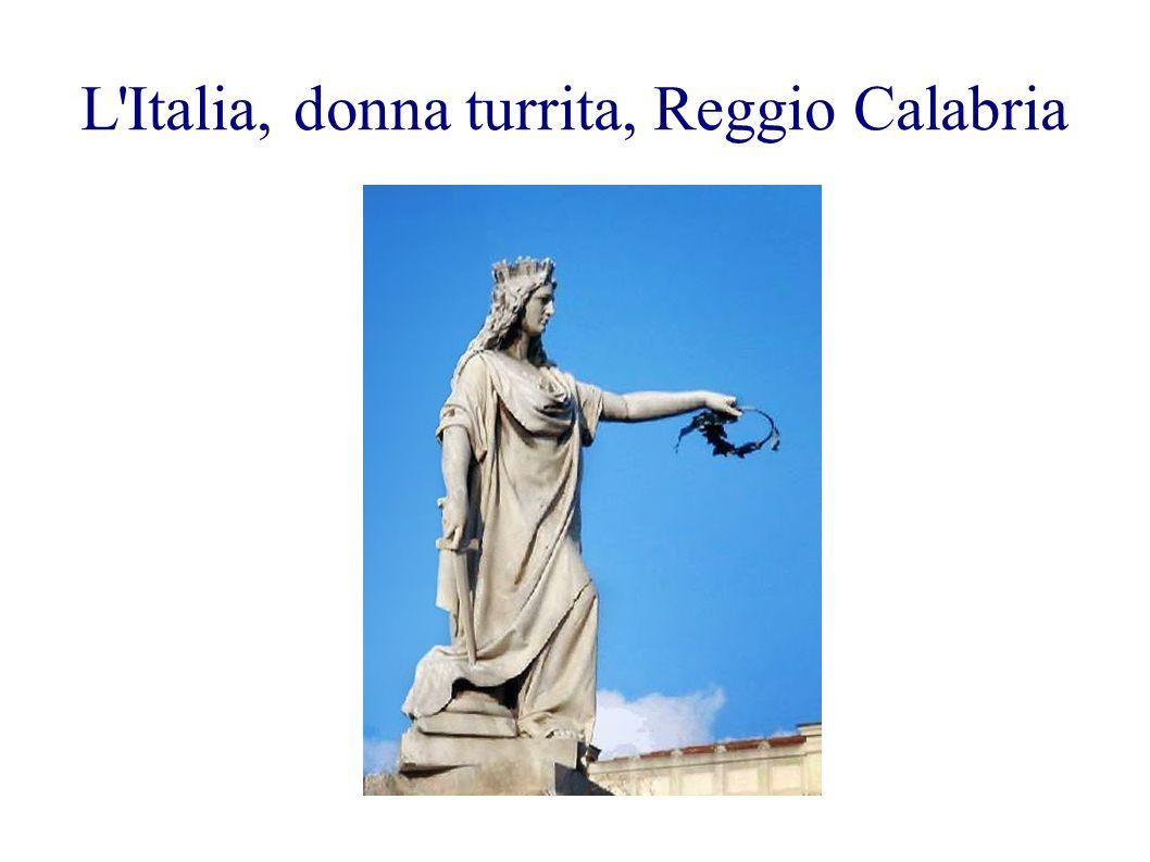 L'Italia, donna turrita, Reggio Calabria