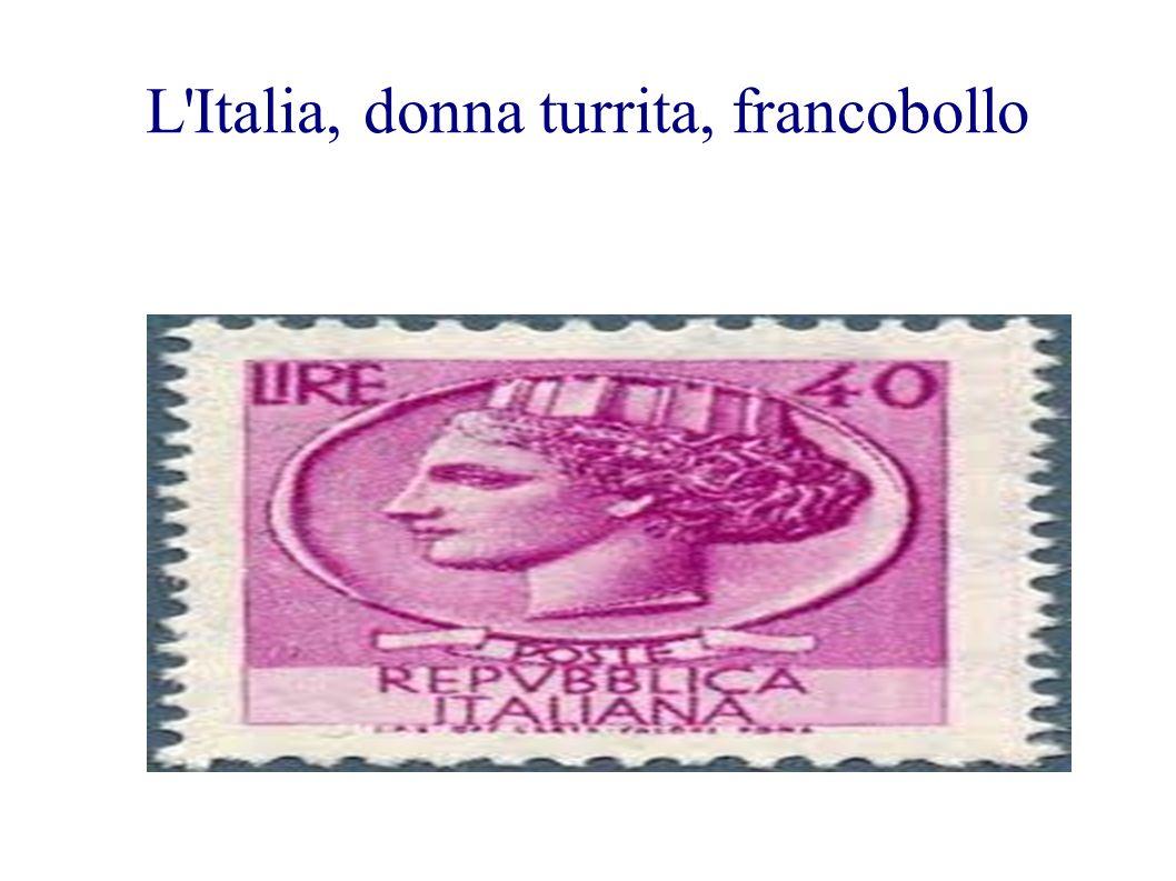 L'Italia, donna turrita, francobollo
